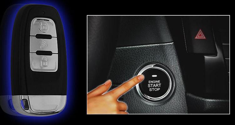 one way voiture de d marrage du moteur syst me d 39 alarme pke bouton poussoir de d marrage. Black Bedroom Furniture Sets. Home Design Ideas