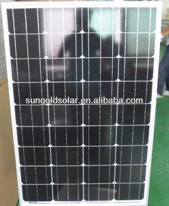 ارتفاع كفاءة الألواح الشمسية أحادية لوحة الخلايا 120w بوش