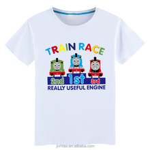 High quality breathable 100% combed cotton cartoon print t-shirt kids