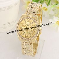 Fashion stainless steel analogy watch male and female quartz alloy wristwatch best decoration for dress