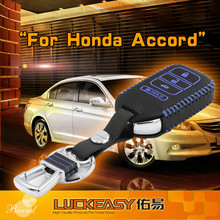 Euro style leather car key case remote car key remote cases for Accord