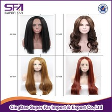 180% Density Factory Price Heat Resistant Synthetic Lace Front Wig High Temperature Wig