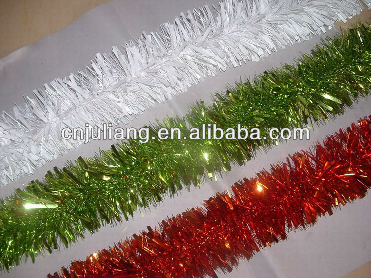 Christmas wired pvc tinsel garland buy