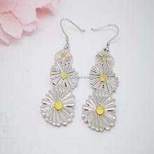 fine jewelry earrings,real cheap flower stud 925 silver earrings jewelry earrings woman #22051