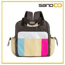Baby mama bolsa, bebé bolsa organizador, de nylon de colores de lujo bolsa de pañales
