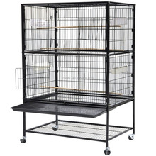 Large Wrought Iron Bird Cage Flight Canary Parakeet Cockatiel Lovebird Finch Sugar Glider Cage with Removable Stand