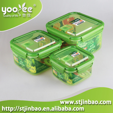 3 in 1 Watertight Plastic Christmas Food Storage Containers with Lids