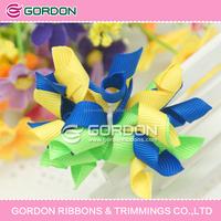 2015 hair cheerleading bows/artificial flower/High quality ribbon hair bows wholesale
