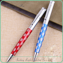 Wholesale high quality chess barrel design cap metal rotomac ball pens