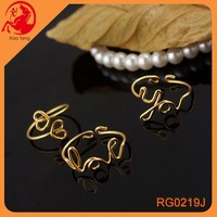 Fashion Hot Sell Letter I Love You Gold Jewelry Knuckle Midi Ring