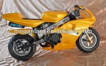 49cc gasline powered electric start mini pocket bike
