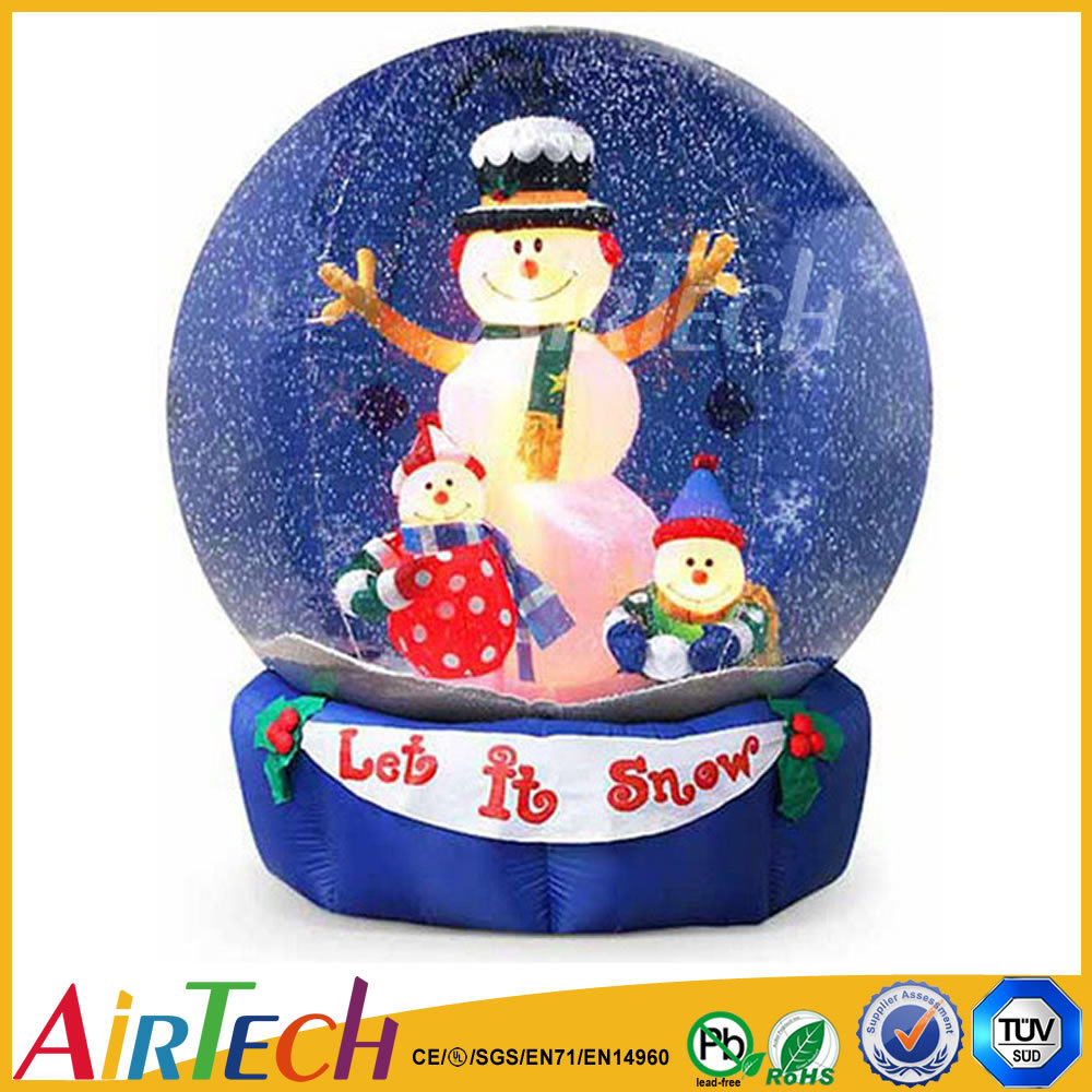 Hot sale snow globe christmas inflatable inflatable jpg