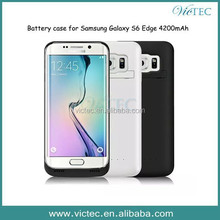 Hot New mobile phone power bank battery case for Samsung Galaxy S6,S6 Edge 4200mAh