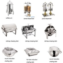 Luxury stainless steel tableware and kitchenware guangzhou hotel supplies