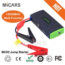 Portable Mini Auto Car Jump Starter Jumper Booster Emergency 12V Multi-function portable MC02 car jump starter 12V 12000mAh