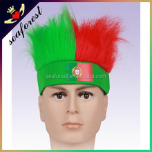 2016 fashion cheap football fans wig/color wig/afro wigs