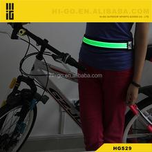 2015 new idea products nylon rechargable led belts stretch belt