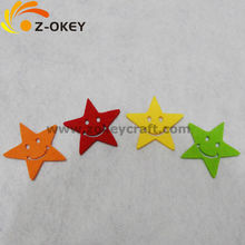 Stars shape felt mat with a smile face laser cutting