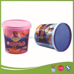 IML logo design 730ml plastic food packaging box