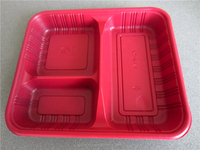High quality disposable microwave lunch box bento lunch box with dividers