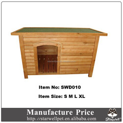 Flat and waterproof roof custom wooden dog house