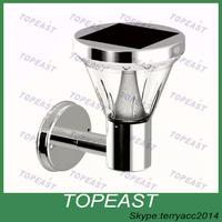 Solar Outdoor LED Light Fixture, Pole/Post/Wall Mount Kit, WALL LIGHT