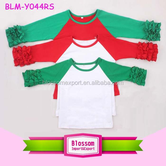 Boutique Adult And Kids Christmas Holiday Red Green Ruffle Sleeve ...
