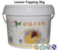 Fresh Fruit Lemon Topping Cream Jam Product for cake with English Label 3kg