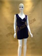 Original Design Fashion OEM Jumpsuits Women Drak Blue Zipper Front Sexy Jumpsuit
