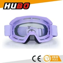 Anti-slip silicone strap helmet safety outdoor clear lens windproof motorcross goggles