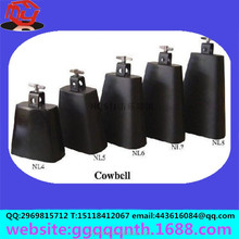Manufacturer production hardware metal music square horn black cow bell class bell school bell