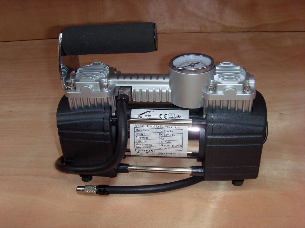 12 В портативный автомобильный шин надувное насос мини воздушный компрессор с двуспальными цилиндров