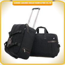 fashion travel luggage bag, black color laptop luggage travel trolley case