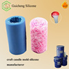 Red Pillar Candle molds making RTV liquid Silicone rubber