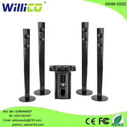 Willico wooden 5.1 home theater sound system with lcd display remote control