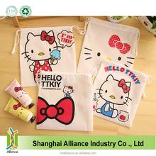 Hello Kitty Shape Small PP Non Woven Fabric Drawstring Bag