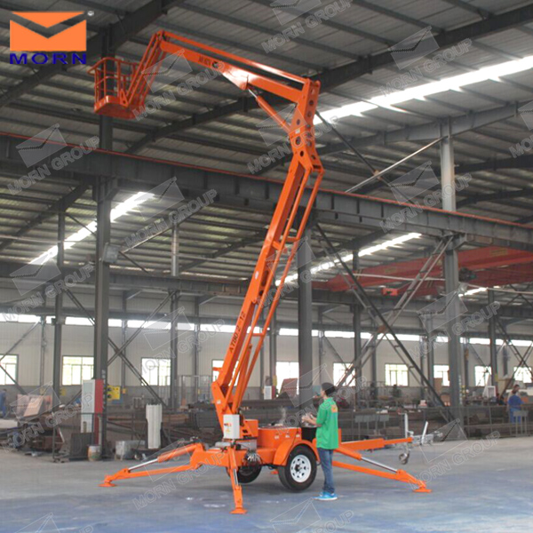 Small Boom Lift : M to towable trailer mounted mini boom lift buy