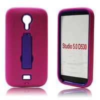 The robot phone case combo mesh stand case for blu studio 5.0 d530