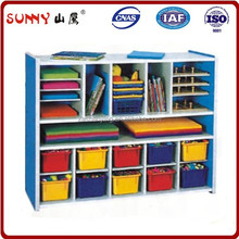 Firm and durable design play school furniture cabinet for child