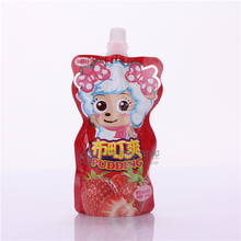 Good quality Stand up fresh milk packaging spout pouch