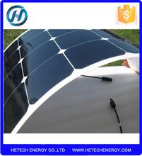 Monocrystalline Flexible solar for caravans golf cars boats with A Grade solar cell
