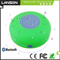 Water Resistant Bluetooth 3.0 Shower Speaker, Handsfree Portable Speaker with Built-in Mic