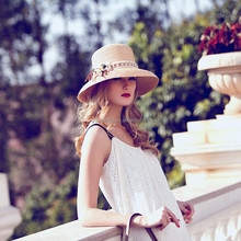 Fancy Lace Cheap Price Summer Straw Hat