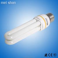 20W CFL energy saving bulbs,9mm glass tube fluorescent tube 2U