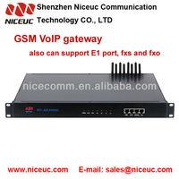 8 gsm voip gateway, sim card sms modem pool gsm fxo gateway