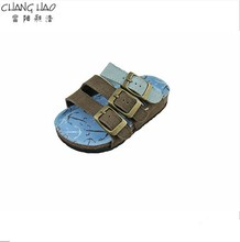 2015 New Design Lighte Brown And LIghte Blue Cute And Cheap Fashion Cork Slipper For Kids