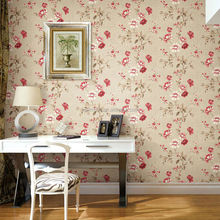 new style 3D wallpaper with China artificial flowers for home decoration