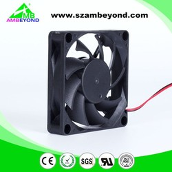 AMBEYOND Fan 70*70*15mm Brushless 12V 24V DC Cooling Fan 2 Wire 11 Blades Manufacturer/Supplier from China