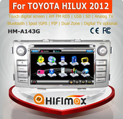 HIFIMAX cheap promotion car radio for toyota hilux double din car dvd player for toyota hilux 2012 reverse camera optional