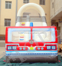 commercial grade fire truck inflatable bounce house